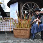Bílá sobota se ve skanzenu nesla ve znamení velikonočního jarmarku a ukázek lidových řemesel. Foto: Alexandra Buršíková