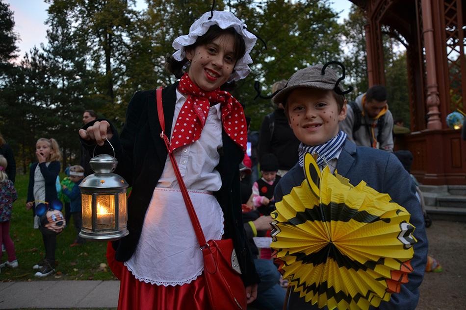 Na lampionovou pouť se vydali také Amalie a Alois Petersen. Foto: Lukáš Španihel