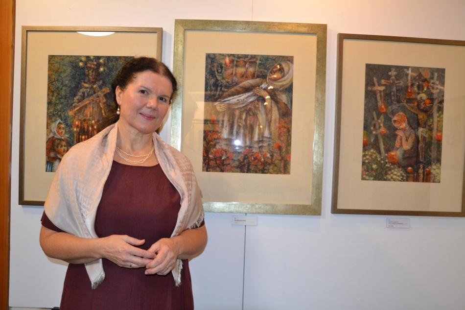 Výstava Ludmily Vaškové Zpěv andělů bude otevřena až do 18. prosince, každý den kromě pondělí a středy, v době od 14 do 17 hodin.